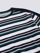 T-shirt col rond rayé