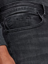 Skinny jeans Max, biker-model, zwart
