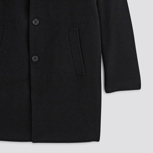 Manteau majoritairement laine col deux portés