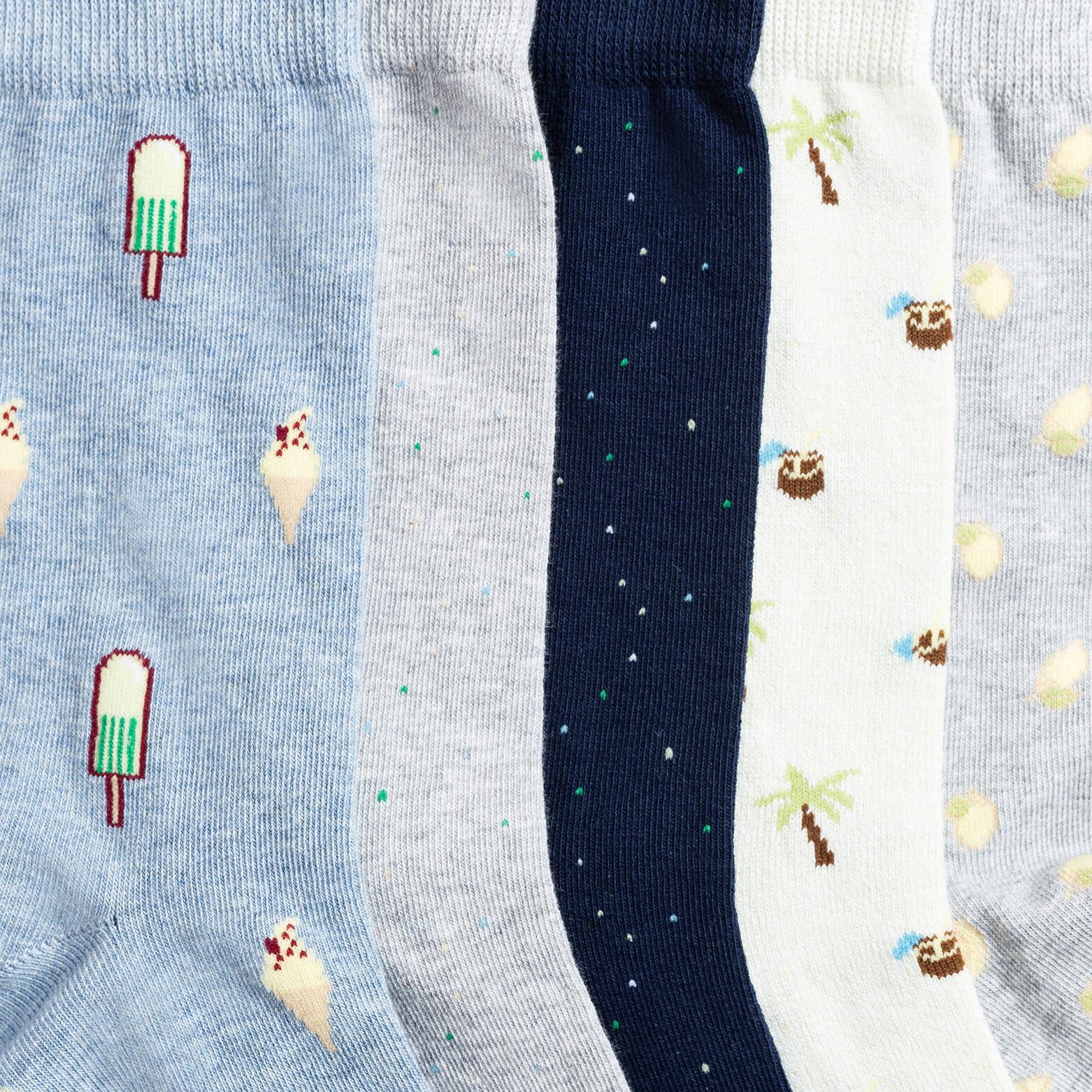 Lot de 5 paires de chaussettes fantaisie