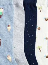 Lot de 5 paires de chaussettes fantaisie coton iss