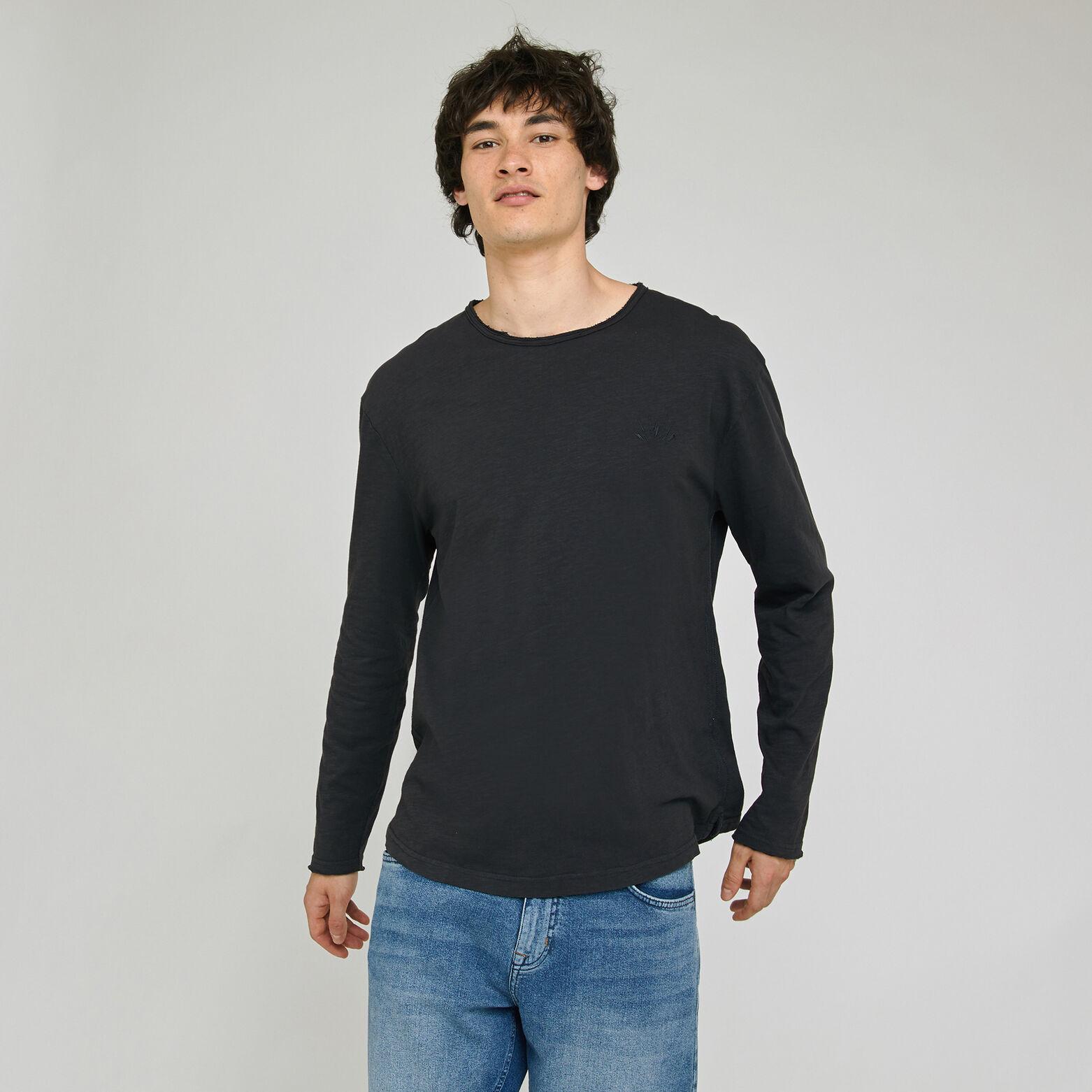 Tee-shirt effet lavé base arrondie