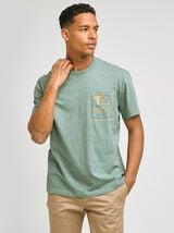Tee-shirt manches courtes avec print poche