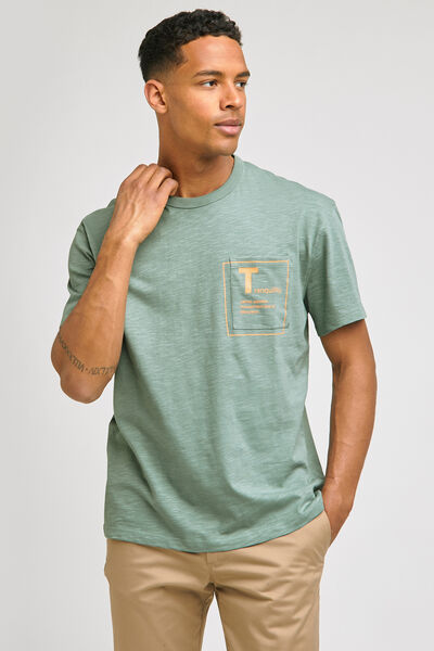 Tee-shirt manches courtes avec print poche COOL FI