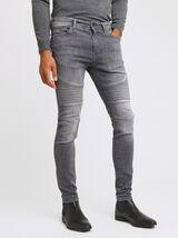 jean skinny #Max biker gris
