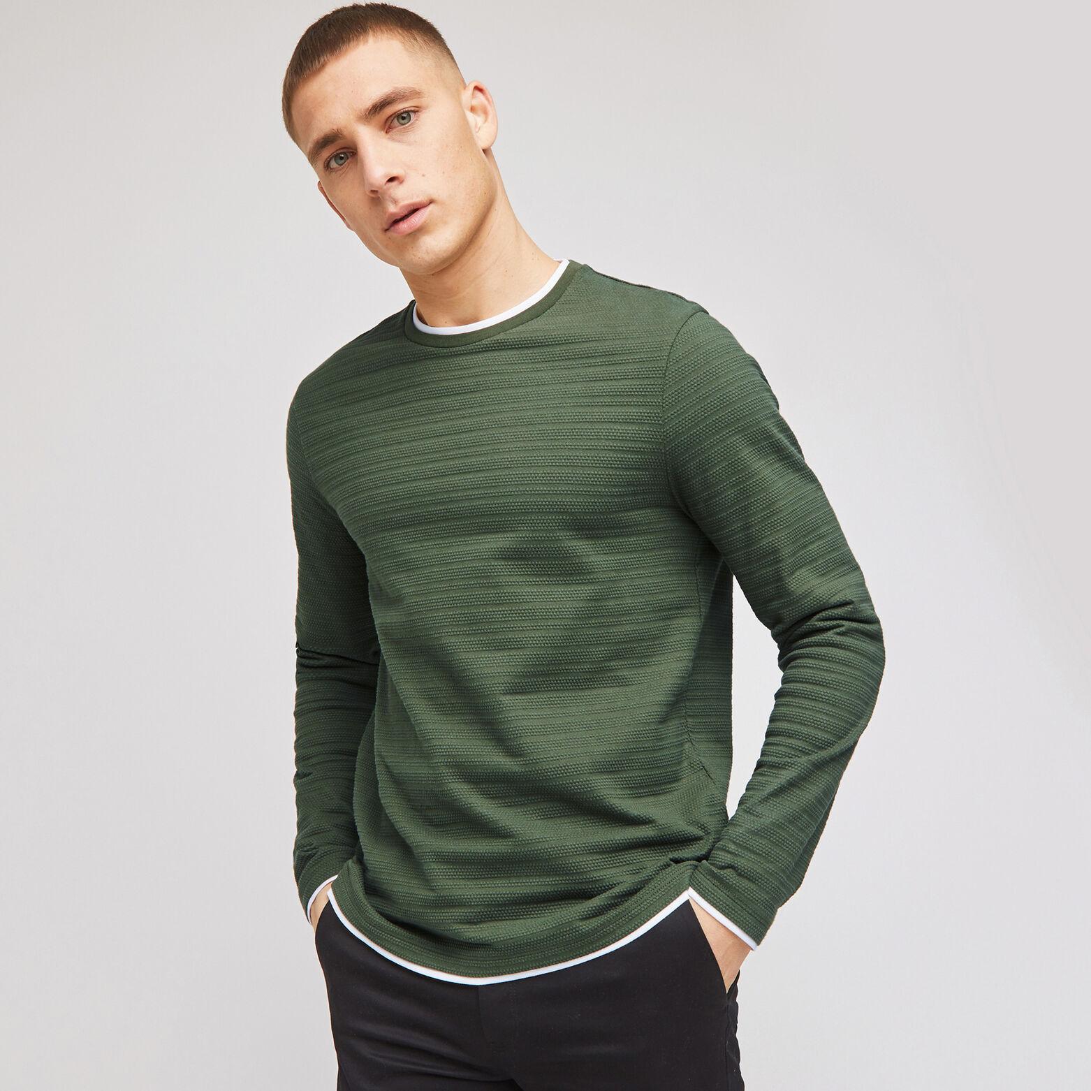Tee-shirt matière reliéfée 2 en 1