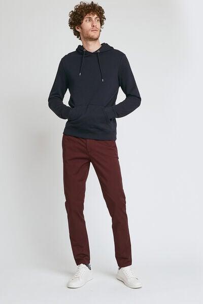 Chino met elastische tailleband