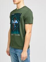 Tee-shirt imprimé placé