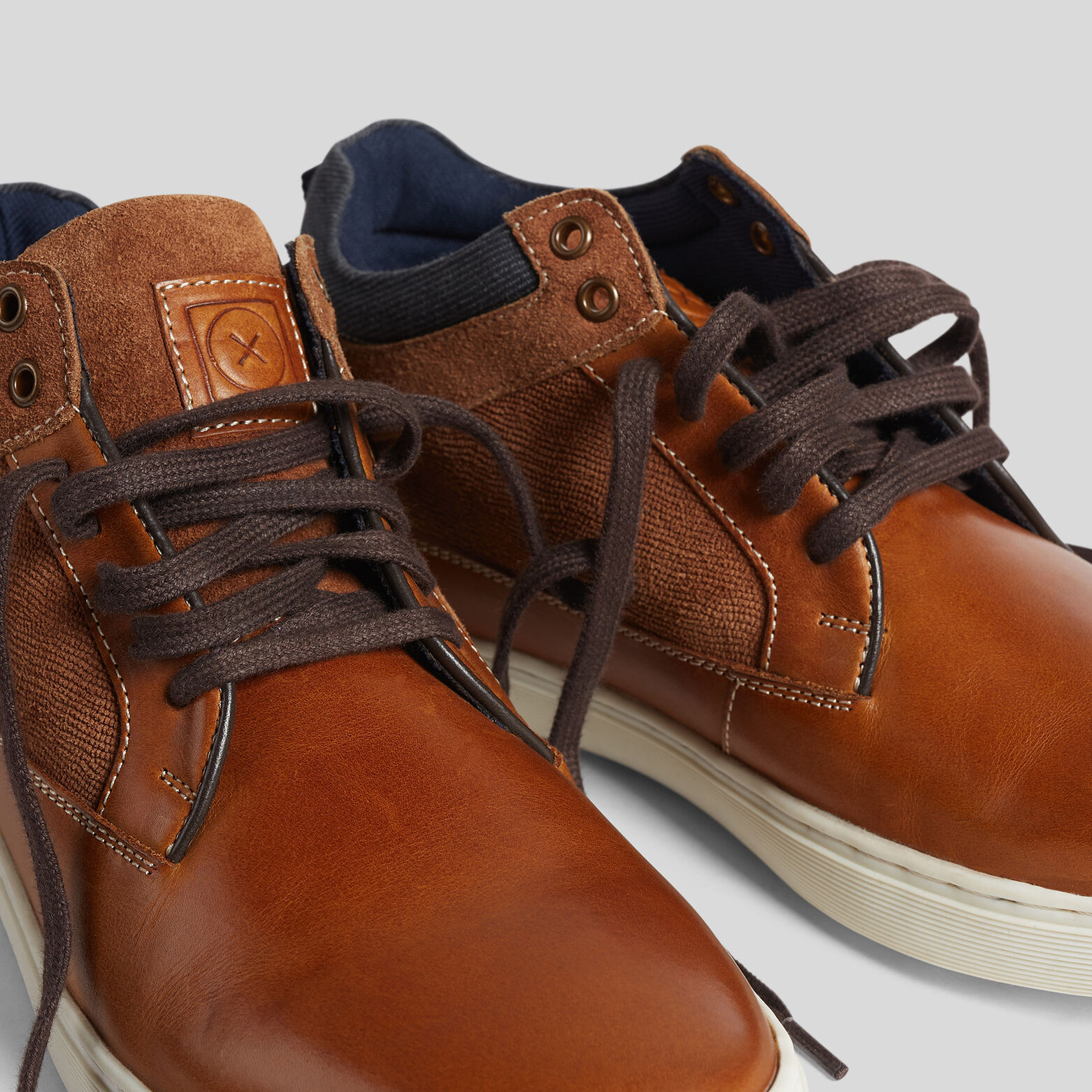 Chaussures montantes homme cuir