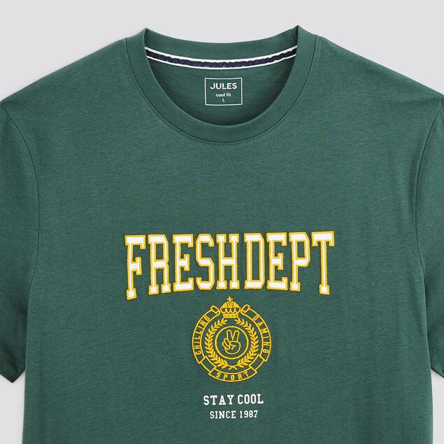 Tee-shirt blason coton issu de l'agri bio