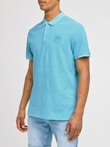 Polo manches courtes fluo patch poitrine