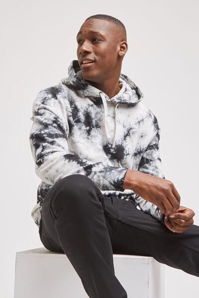Sweater met kap, tie-dye