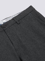 Pantalon chino slim fines rayures