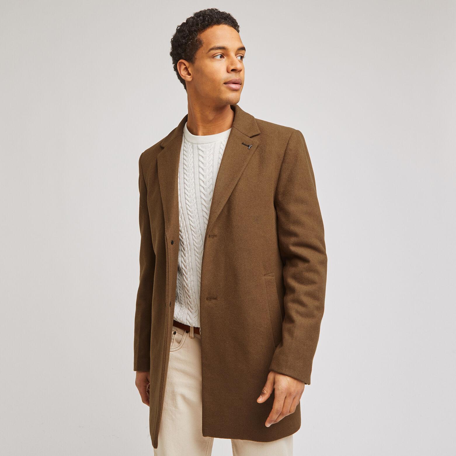 Manteau 3/4 col tailleur