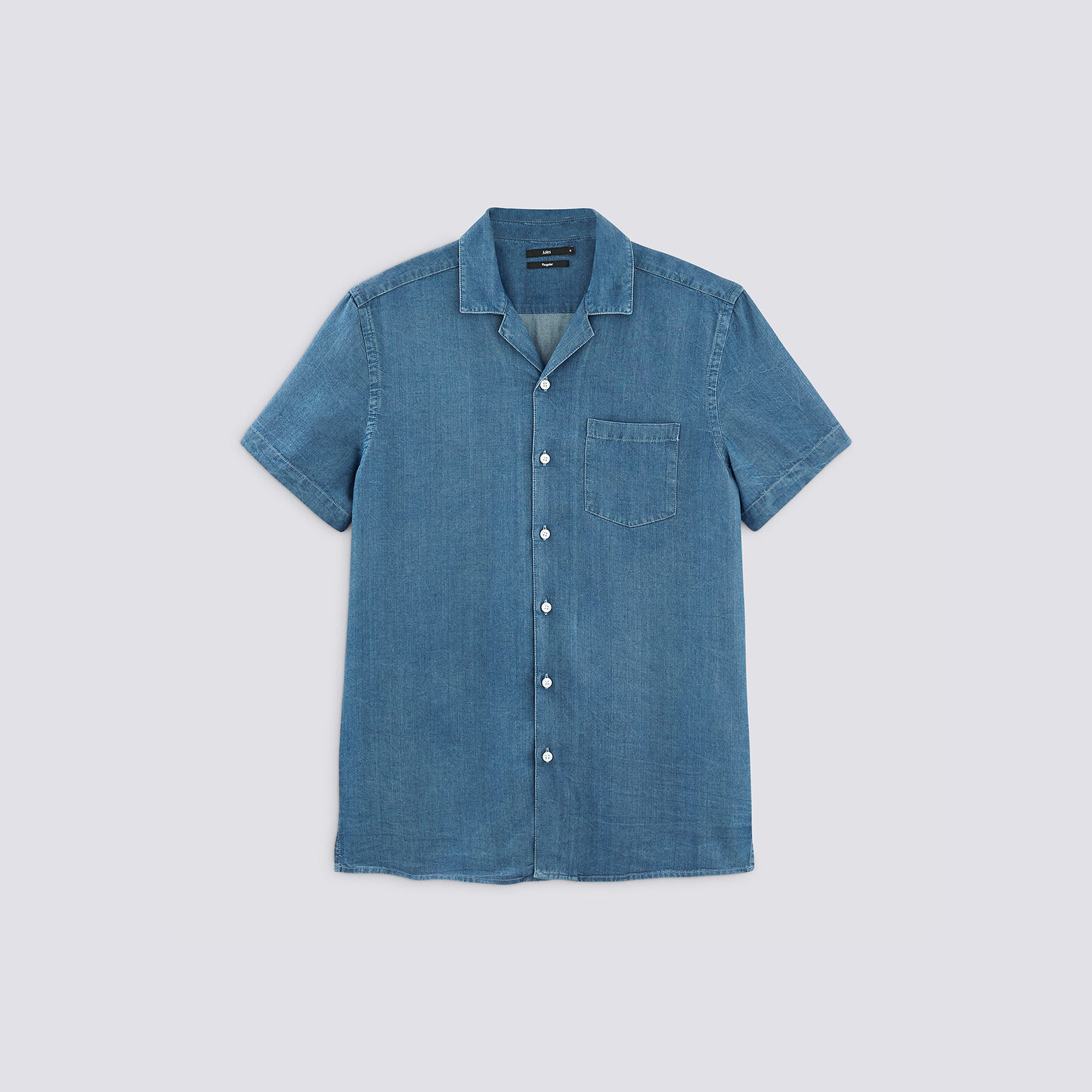 Chemise manches courtes unie Lyocell