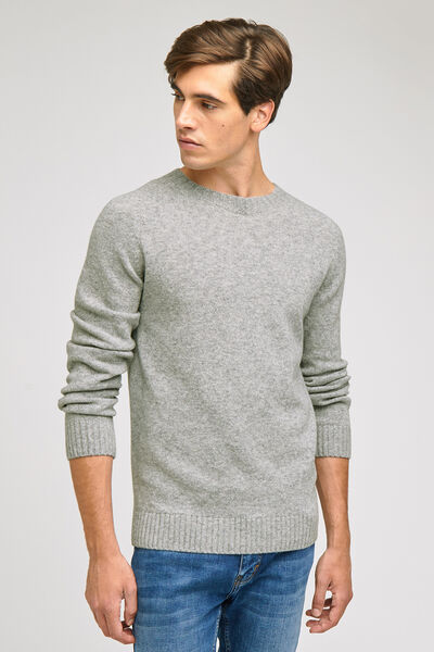 PULL SANS COUTURES COL ROND EN LAMBSWOOL