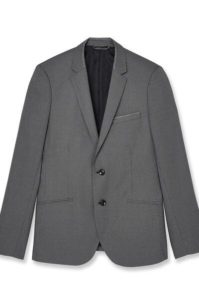 veste de Costume coupe Slim matière reliefe et dét
