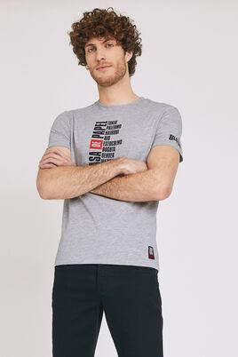 Grijs gemêleerd T-shirt met print van namen
