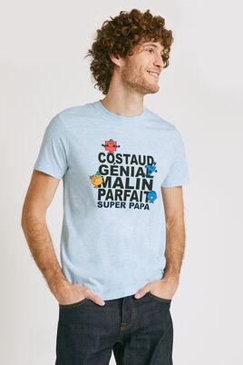 T-shirt met ronde hals 'Monsieur Madame'