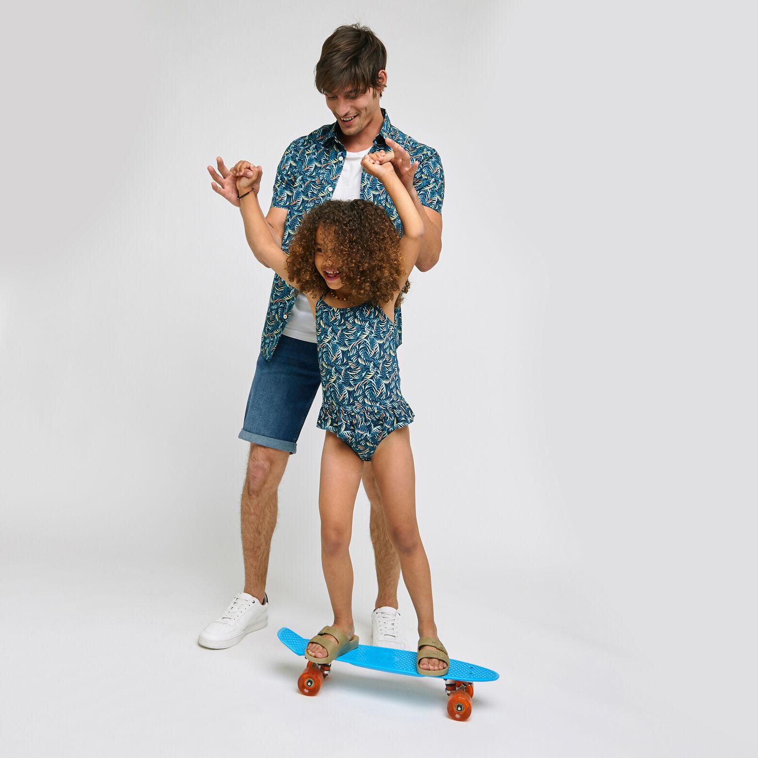 Ensemble mini moi maillot de bain imprimé - Bleu