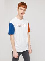 Tee-shirt colorblock print devant COOL FIT