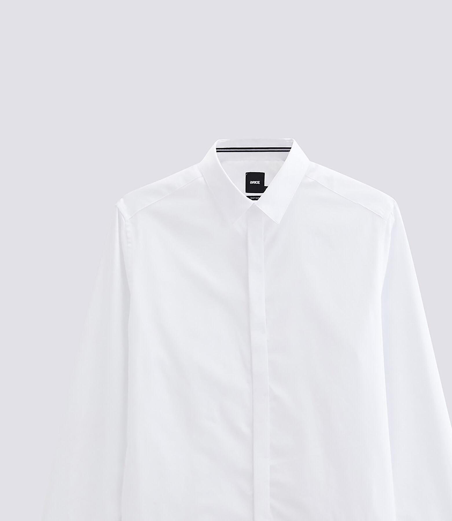 Chemise slim patte de boutonnage cachée