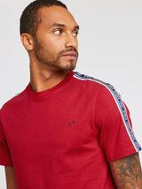 Tee shirt col rond bande contrastée COOL FIT