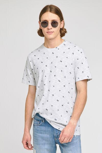 Tee-shirt imprimé matière fantaisie