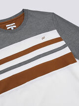 Tee-shirt col rond COOL FIT colorblock