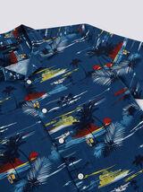 Chemise manches courtes imprimée regular