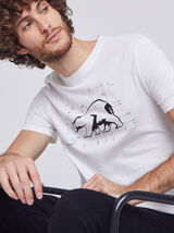 Tee shirt col rond motif ours