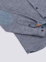 Chemise slim en flanelle chinée