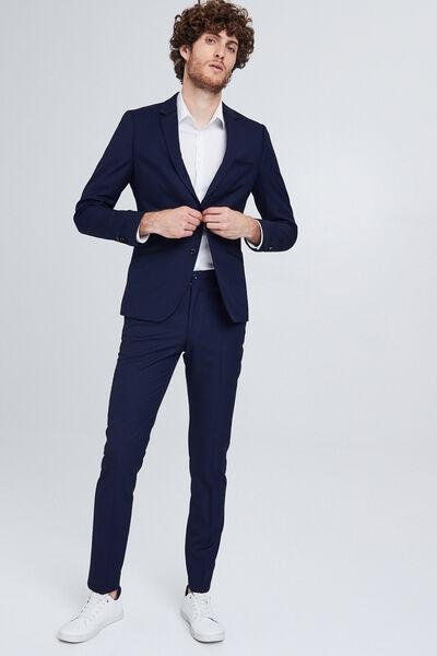 Het pakket kostuum slim snit - blauw