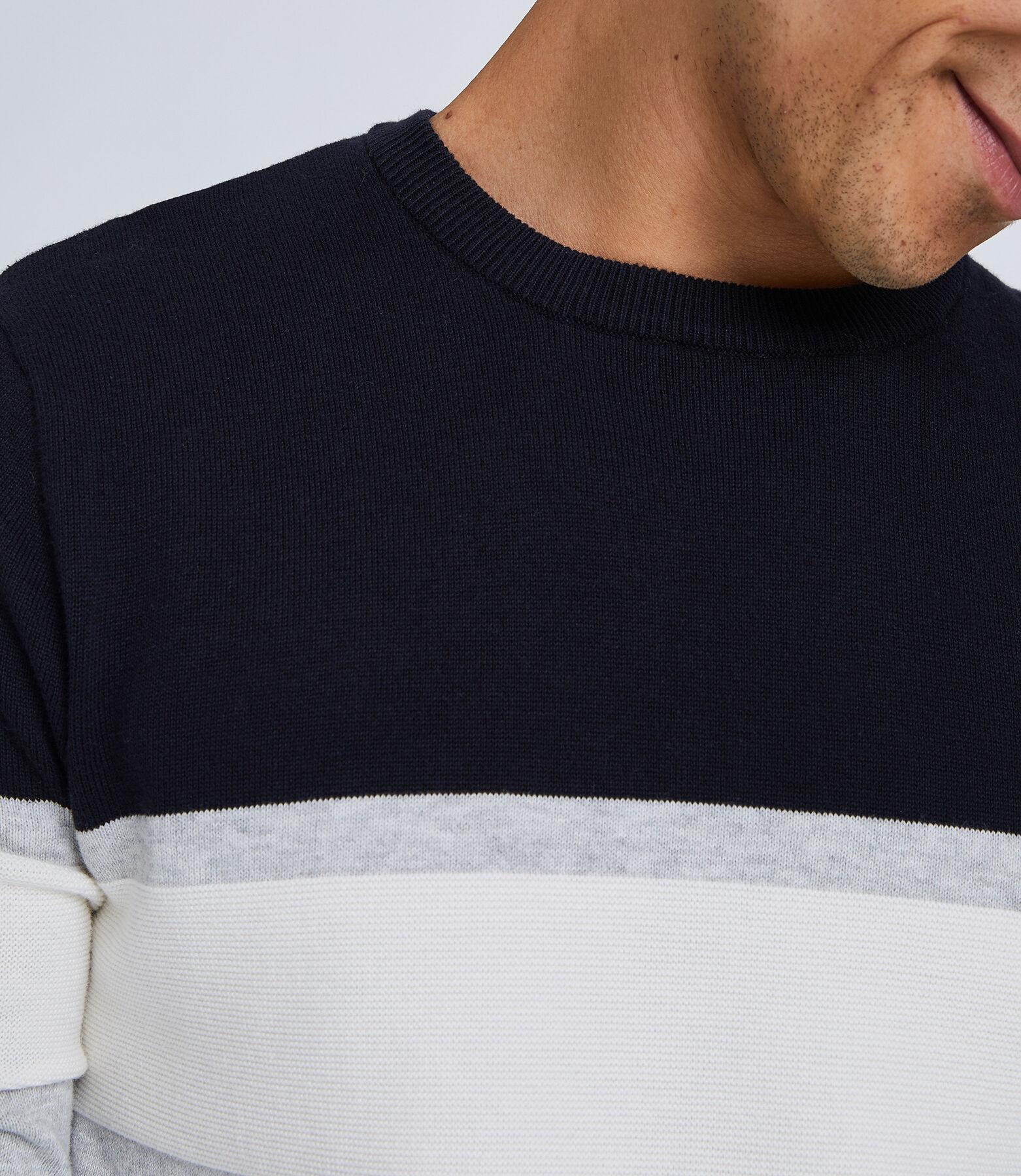 Colorblock trui met ronde hals