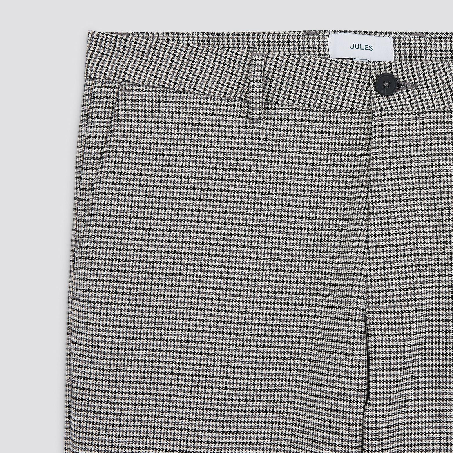 Pantalon cropped à carreaux