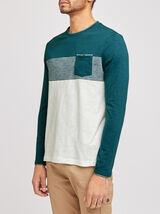 T-shirt manches longues colorblock