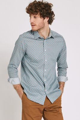 Chemise regular petits motifs orientaux