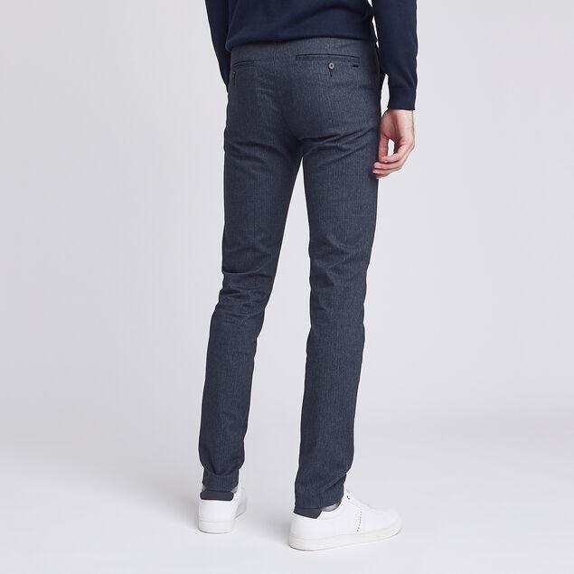 Pantalon chino slim chevron