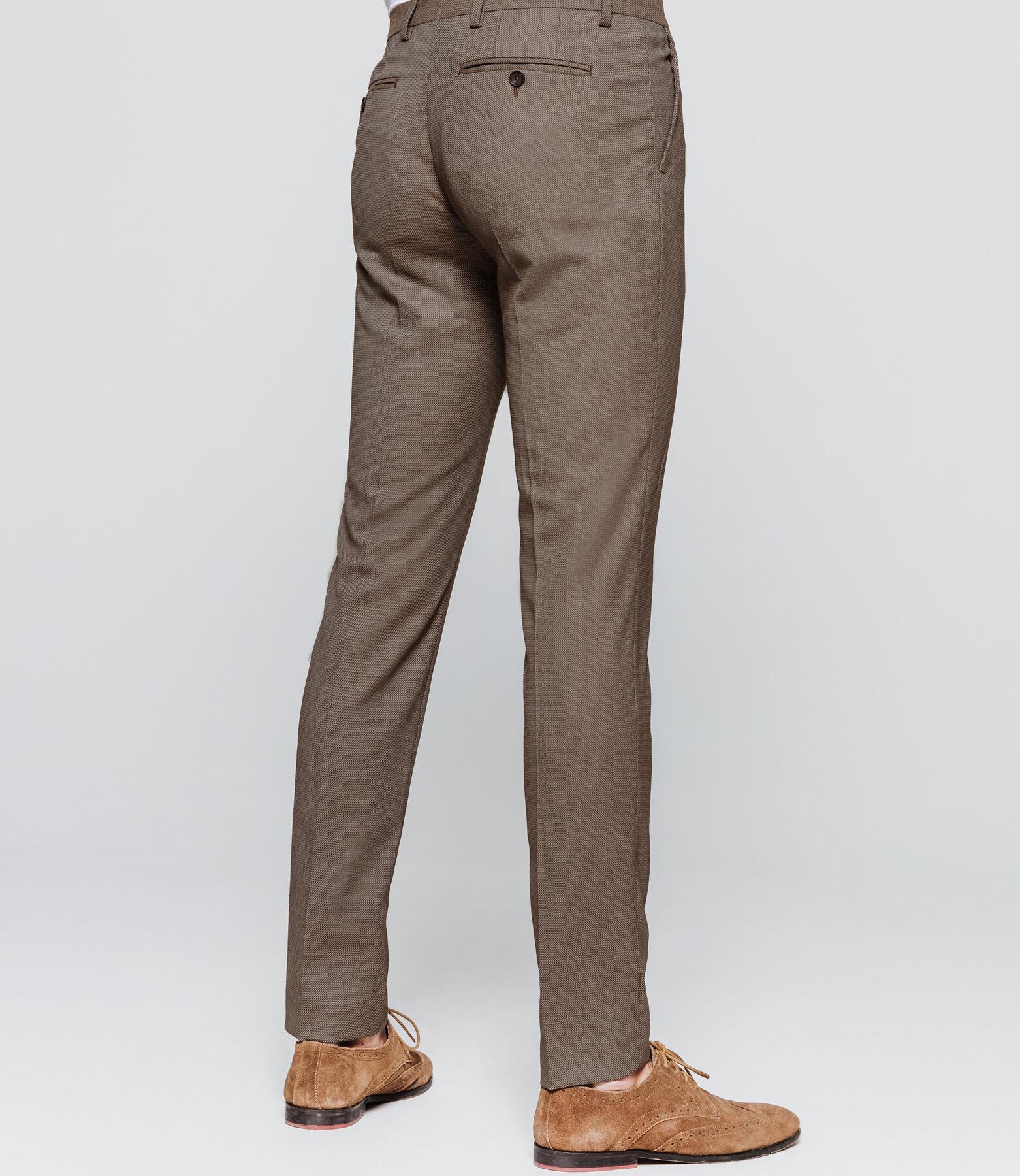 Pantalon de costume slim motifs jacquard