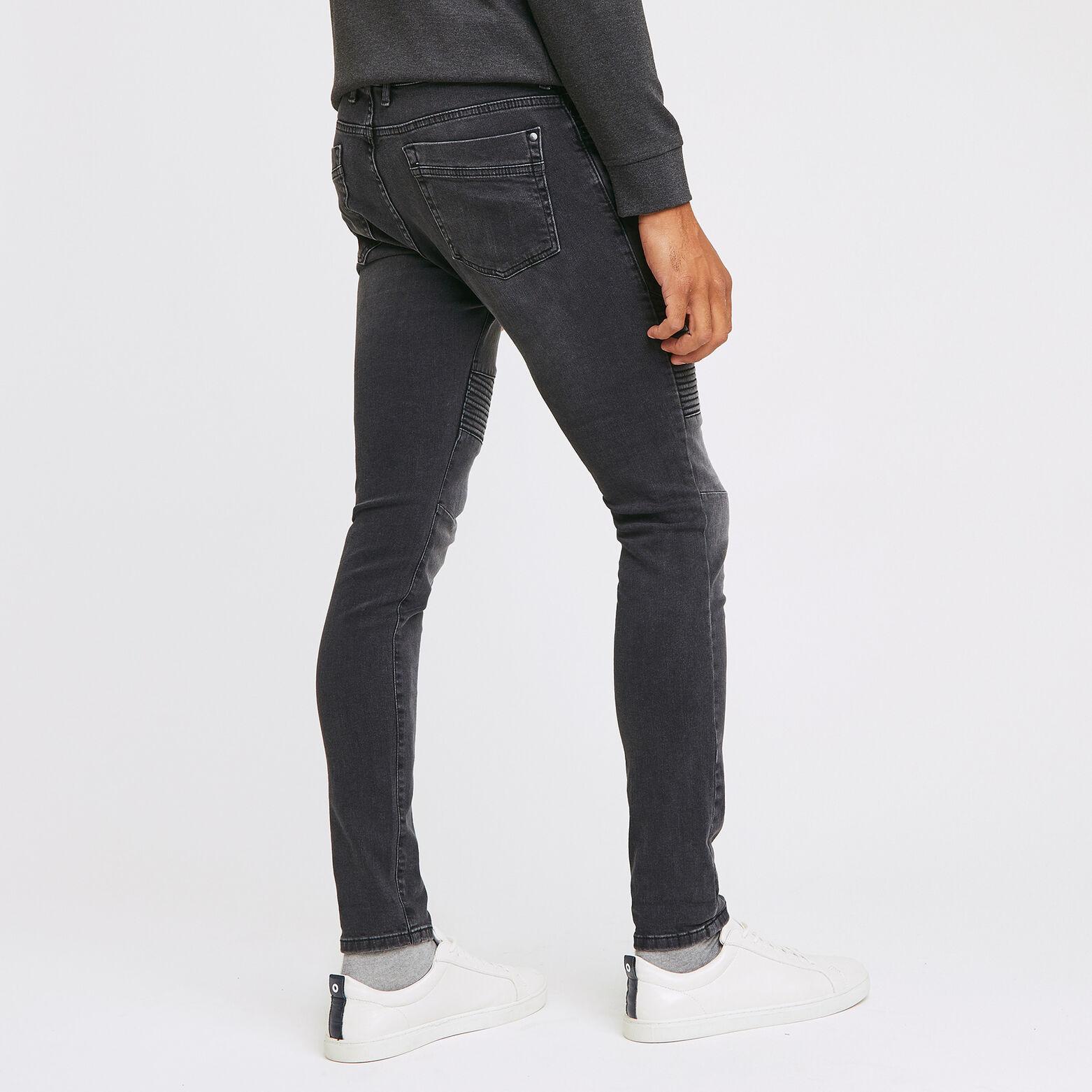 jean skinny #Max biker noir