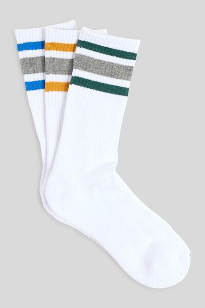 Lot de 3 paires de chaussettes esprit sport