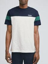 Tee-shirt colorblock coton issu de l'agri bio