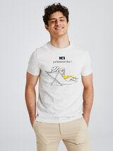 Tee-shirt avec imprimé région CENTRE
