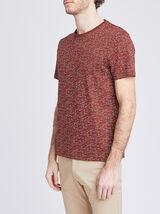 Tee-shirt col rond effet rayé