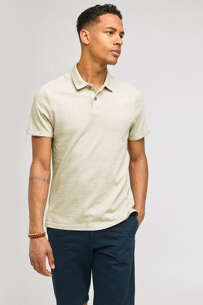 Polo manches courtes  avec du coton & du lin