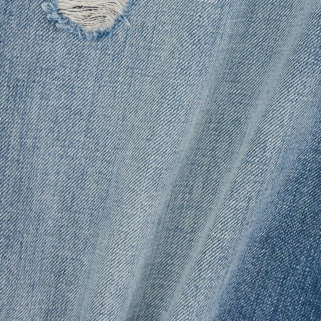 Bermuda denim en coton lin