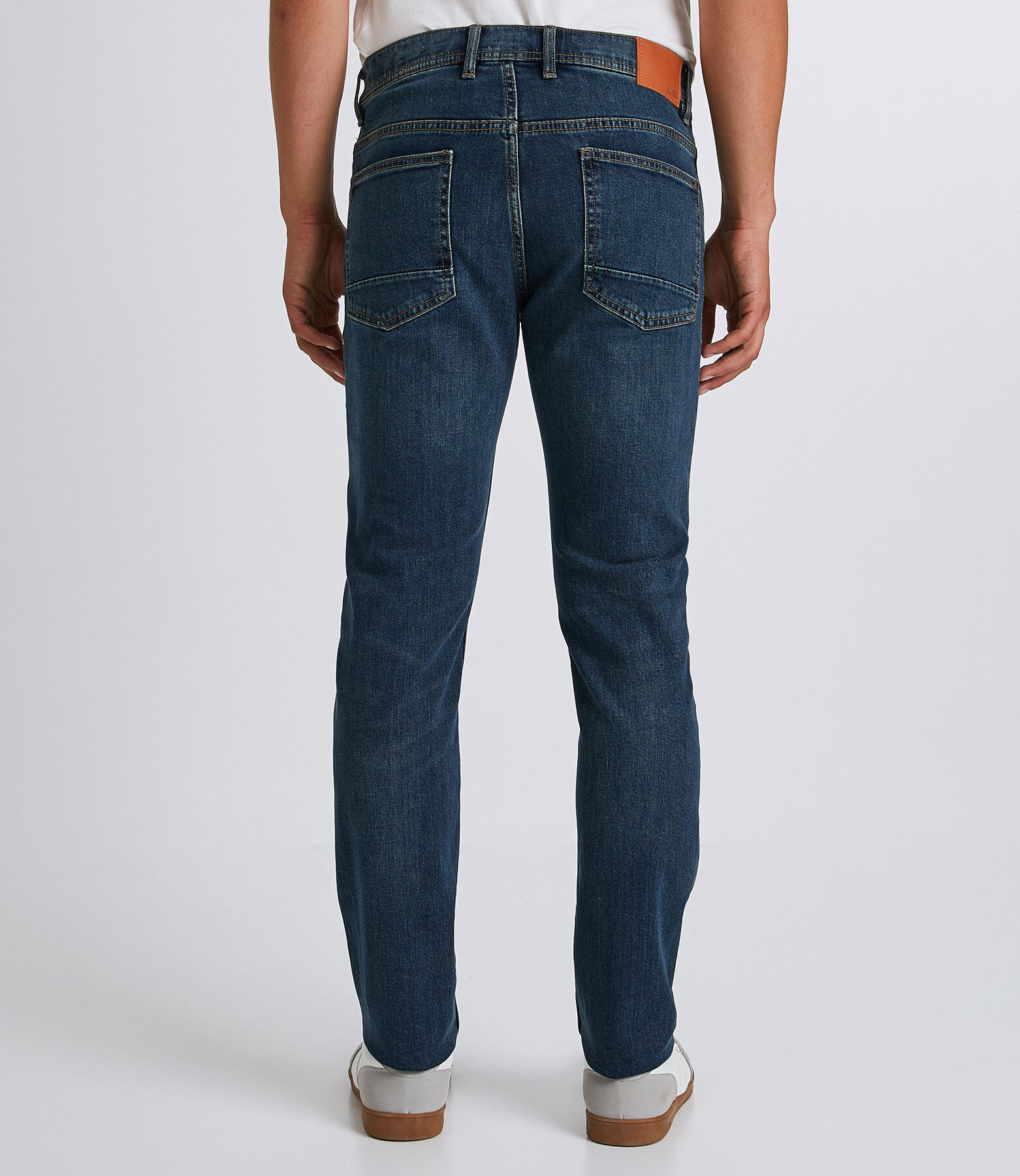 Straight jeans 4L, dirty blauw