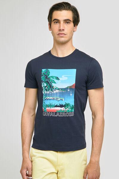 Tee-shirt imprimé station  balnéaire CAVALAIROIS