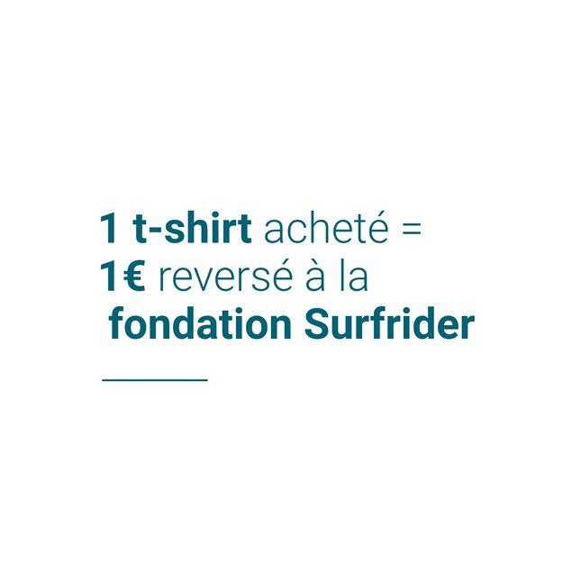 Tee-shirt en coton issu de l'agri. bio SURFRIDER