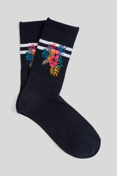 Chaussettes unitaires avec motif
